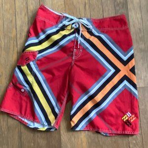 BILLABONG BRIAN GRUBB Board Shorts Swim Trunks Red